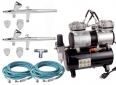 Salon Airbrush Nail Set for 2 persons / 2 pistols