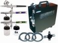 Basic Tattoo Airbrush Set for 2 colors and varnish