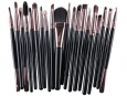 Set of 20 cosmetic brushes