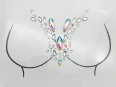 Bosom Crystal sticker Gem Jewelry CS1013
