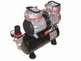 2-cilinder airbrush compressor with air tank Fengda® AS-196