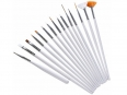 Set of 15 bodypainting, nail, decoration mini brushes