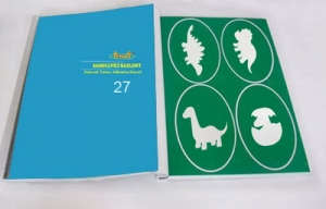 Airbrush tattoo Book of stencils type 27 - Dino