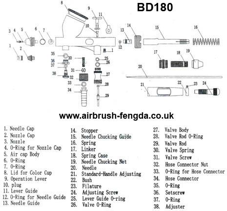 Aerografo fengda bd 180