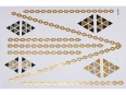 Gold Silver Black | Jewelry Flash Tattoo stickers W-094, 21x15cm