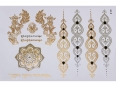 Gold Silver Black | Jewelry Flash Tattoo stickers W-091, 21x15cm