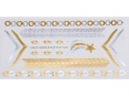 Gold Silver | Jewelry Flash Tattoo stickers W-085, 21x11cm