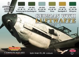 Camouflage Set LifeColor CS06 GERMAN WWII LUFTWAFFE SET1