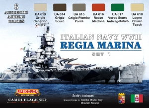 Camouflage Set LifeColor CS15 ITALIAN NAVY WWII SET1 REGIA MARINA ITALIANA