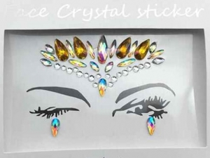 Face Crystal sticker Gem Jewelry LS1015