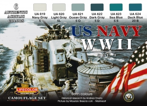 Camouflage Set LifeColor CS24 US NAVY WIISET1