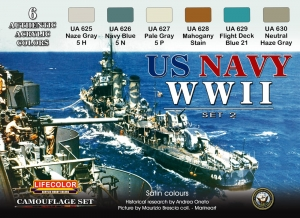 Camouflage Set LifeColor CS25 US NAVY WII SET2