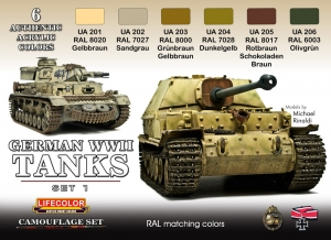 Camouflage Set LifeColor CS01 GERMAN WWII TANKS SET1