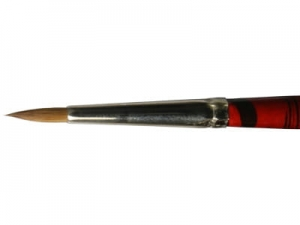 Round Brush LifeColor Pure red sable 4