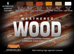 Diorama Set LifeColor CS20 WEATHERED WOOD
