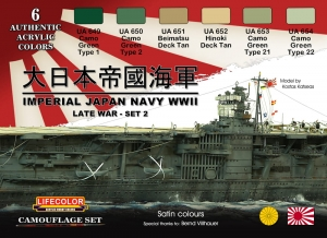 Diorama Set LifeColor CS37 IMPERIAL JAPAN NAVY WWII LATE WAR - SET 2