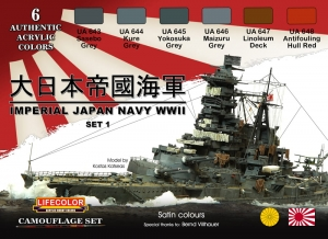 Diorama Set LifeColor CS36 IMPERIAL JAPAN NAVY WWII SET 1