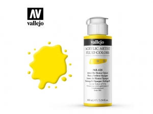 Vallejo Acrylic Fluid Color 68428 Hansa Yellow Opaque (100ml)