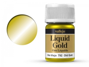 Vallejo Liquid Gold 70792 Old Gold (Alcohol Based) (35ml)