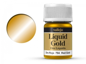 Vallejo Liquid Gold 70794 Red Gold (Alcohol Based) (35ml)