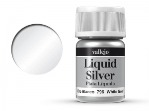 Vallejo Liquid Gold 70796 White Gold (Alcohol Based) (35ml)
