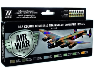 Vallejo Model Air RAF Set 71145 Bomber Air Command & Training Air Command 1939-45 (8)