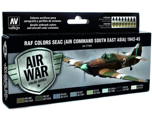 Vallejo Model Air RAF Set 71146 Seac (Air Command South East Asia) 1942-45 (8)
