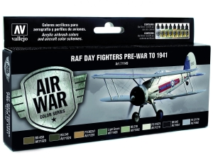 Vallejo Model Air RAF Set 71149 Day Fighters Pre-War To 1941 (8)