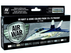 Vallejo Model Air USN Set 71155 US Navy & USMC Colors from 70's to present (8)