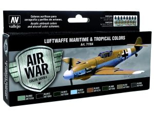 Vallejo Model Air Set 71164 Luftwaffe Maritime And Tropical Colors (8)