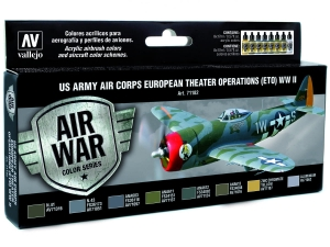 Vallejo Model Air US Army Air Corps Set 71182 European Theater Op. (ETO) WWII (8)