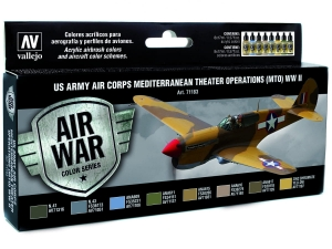 Vallejo Model Air US Army Air Corps Set 71183 Mediterranean Theater Op. (MTO) WWII (8)