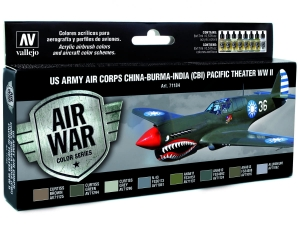 Vallejo Model Air US Army Air Corps Set 71184 China-Burma-India Pacific Theather (CBI) WWII (8)