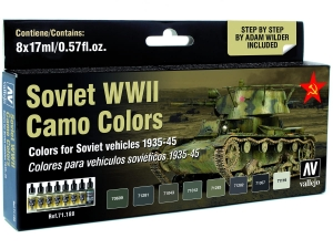 Vallejo Model Air AFV Set 71188 Soviet WWII Camo Colors (8) by Adam Wilder