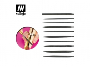 Vallejo T03001 Budget needle file set (10)