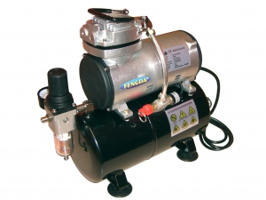 Airbrush hobby compressor with air tank Fengda® AS-186
