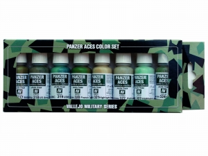 Vallejo Panzer Aces 8 Color Set 70126 Allied Crew Uniforms (8)