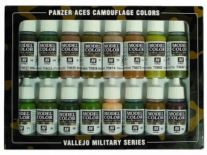 Vallejo Panzer Aces 16 Color Set 70179 Panzer Aces Camouflage (16)
