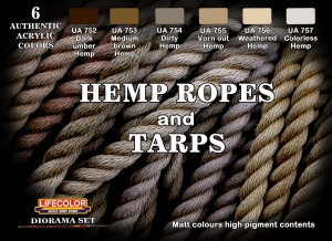 Camouflage Set LifeColor CS28 Hemp ropes and Tarps