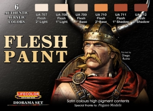 Diorama Set LifeColor CS13 FLESH PAINT SET