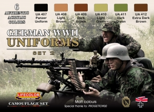 Camouflage Set LifeColor CS05 GERMAN WWII UNIFORMS SET2