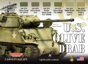 Camouflage Set LifeColor CS11 U.S. OLIVE DRAB