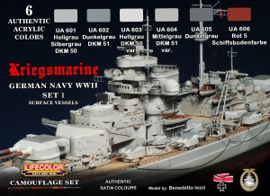 Camouflage Set LifeColor CS09 GERMAN NAVY WWII SET1 Kriegsmarine