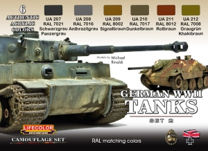 Camouflage Set LifeColor CS03 GERMAN WWII TANKS SET2
