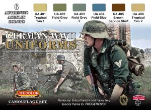 Camouflage Set LifeColor CS04 GERMAN WWII UNIFORMS SET1