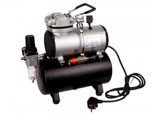 Airbrush hobby compressor with air tank Fengda® AS-189