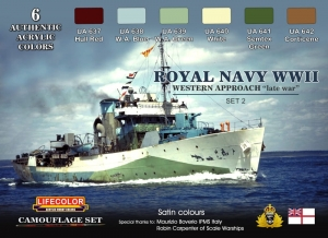 Diorama Set LifeColor CS34 ROYAL NAVY WWII
