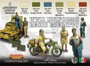 Camouflage Set LifeColor CS14 ITALIAN WWII REGIO ESERCITO UNIFORMS