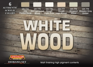 Diorama Set LifeColor CS38 WHITE WOOD
