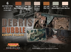 Diorama Set LifeColor CS31 DEBRIS and RUBBLE